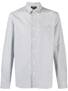 A.P.C. полосатая рубашка с длинными рукавами