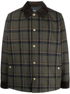 A.P.C. куртка-рубашка в клетку