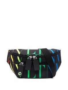 Valentino Garavani поясная сумка с принтом VLTN Times