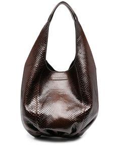 Brunello Cucinelli сумка на плечо с тиснением под кожу змеи