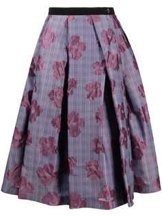 Comme Des Garçons Tricot клетчатая юбка с цветочным узором