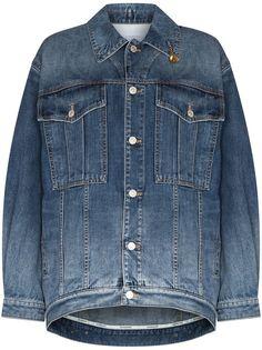 Givenchy джинсовая куртка оверсайз с цепочкой