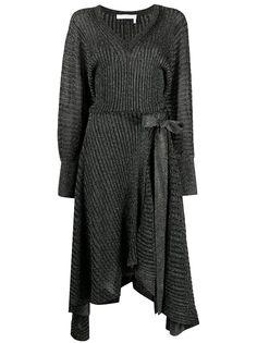 Chloé вечернее платье с V-образным вырезом