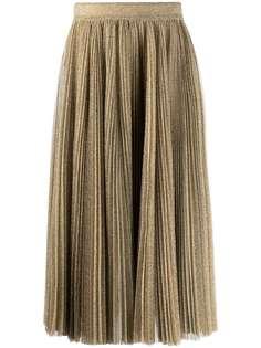 Dolce & Gabbana плиссированная юбка миди с блестками