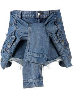 Alexander Wang джинсовые шорты с завязками