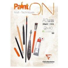 Альбом для смешанных техник Clairefontaine Paint ON 42 х 29.7 см (A3), 250 г/м², 40 л.