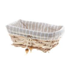 Хлебница-корзинка East willow 22х15х9 текстильная прямая