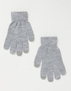 Серые меланжевые перчатки для сенсорных экранов SVNX-Серый 7X