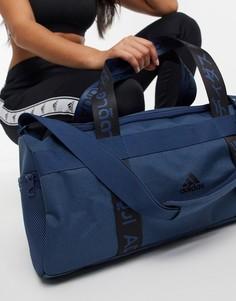 Синяя спортивная сумка-дафл adidas-Голубой