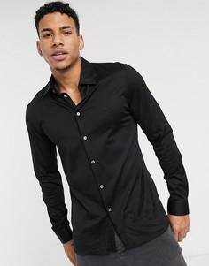 Приталенная премиум-рубашка из хлопка Lacoste-Черный цвет