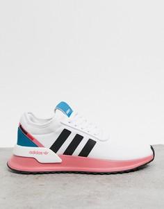 Белые кроссовки с контрастной подошвой adidas Originals U Path Run-Белый