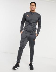 Спортивный костюм в сером и оранжевом цвете Puma Football-Серый