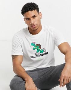 Белая футболка с принтом черепахи Nike Running-Белый