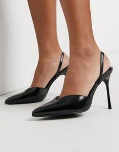 Черные туфли на каблуке с вырезом сердечком RAID Rexel-Черный цвет