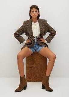 Кожаные ботинки на каблуке - Lana Mango
