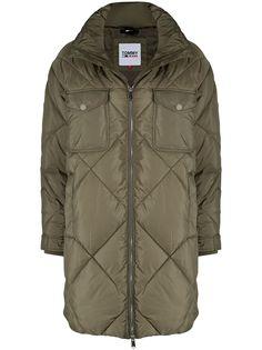 Tommy Hilfiger стеганое пальто оверсайз