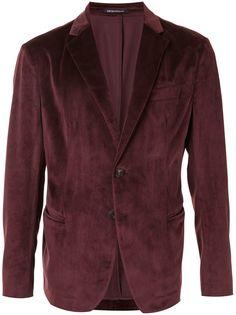 Emporio Armani бархатный однобортный пиджак