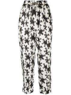 Odeeh брюки шаровары с абстрактным принтом