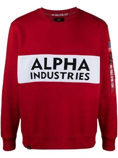 Alpha Industries двухцветная толстовка с логотипом