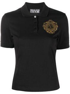 Versace Jeans Couture рубашка поло с вышитым логотипом