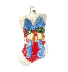 Елочное украшение Новогодняя сказка Подарочный носок 12.5 см