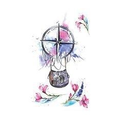 Polysfera Tattoo Авторская татуировка Tattoo PS&KG 0012 розовый/фиолетовый