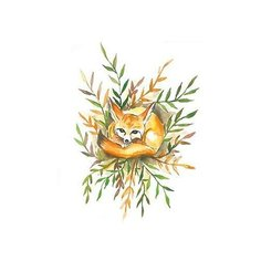 Polysfera Tattoo Авторская татуировка Tattoo PS&KG 0020 оранжевый/зеленый