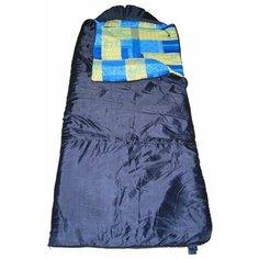 Спальный мешок HELIOS Батыр XXL СОШ-3 (220*90) синий (синтепон) синий