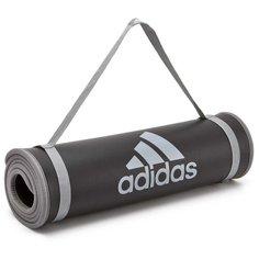 Коврик (ДхШхТ) 183х61х1 см adidas ADMT-12235 черный/серый надпись