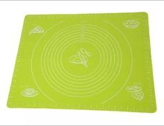 Силиконовый коврик для раскатывания теста, 70х50 см (Цвет: Зелёный ) Markethot