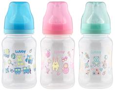 Бутылочка для кормления Lubby Классика с соской молочной 270 мл в ассортименте