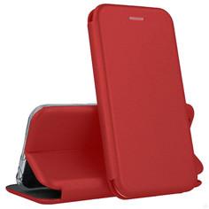 Кожаный чехол-книжка Open Color с функцией подставки для iPhone 12 (Pro) (Красный)