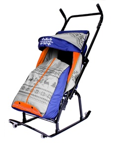 Санки-коляска R-Toys Герда 4-Р3 с 4 колесиками