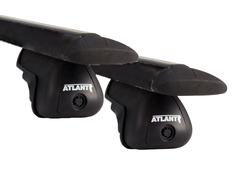 Багажник Atlant черн аэродуги 1,26м на Ауди А6 Олроуд Кватро C5 универсал с рейл 2000-200