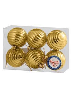 """Украшение елочное """"Золотые кольца"""", 6 см, 6 штук Феникс Презент"""