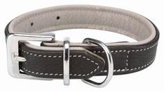 Ошейник для собак повседневный TRIXIE Active Comfort, нейлон, черный, серый, 52–63 см/35мм