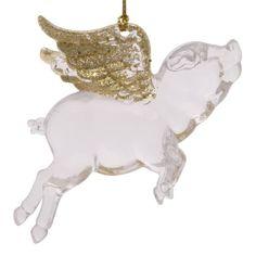 """Новогоднее подвесное елочное украшение """"Свинка с крыльями"""", 11,5x7,5x3 см Феникс Present"""