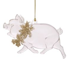 """Новогоднее подвесное елочное украшение """"Свинка с цветочками"""", 1x12,7x7,5 см Феникс Present"""