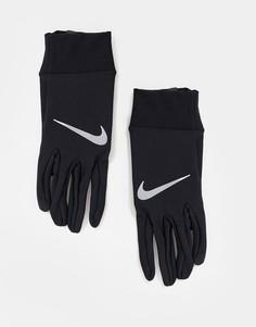 Легкие мужские перчатки черного цвета для бега Nike-Черный цвет