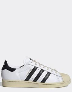 Черно-белые кроссовки adidas Originals Superstar 80-Белый
