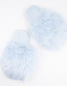 Синие слиперы из искусственного меха Loungeable-Голубой