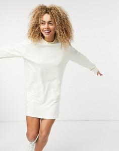 Белое платье-футболка с длинными рукавами Nike Essential-Белый