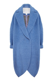 Голубое пальто из альпаки Sultancouture