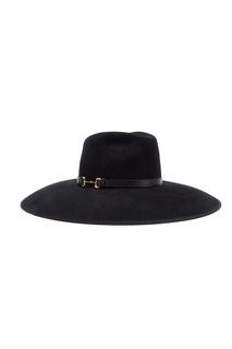 Шляпа из черного фетра с широкими полями Gucci