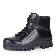 Кожаные ботинки чёрного цвета на меху Respect