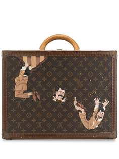 Louis Vuitton чемодан One of a Kind Cotteville 45 painted by Artist Mike Frederiqo pre-owned