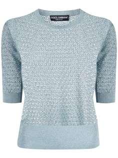 Dolce & Gabbana вязаный джемпер с короткими рукавами