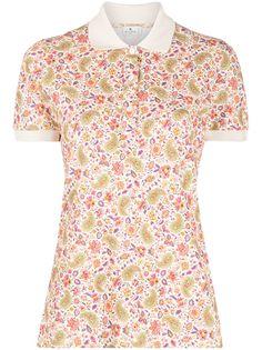 Etro рубашка поло с цветочным принтом