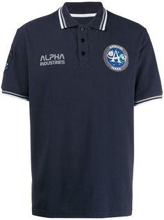 Alpha Industries рубашка-поло с логотипом