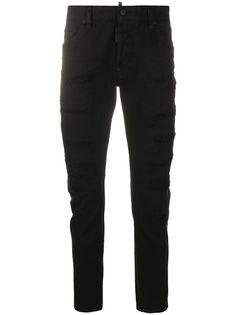 Dsquared2 прямые джинсы с эффектом потертости